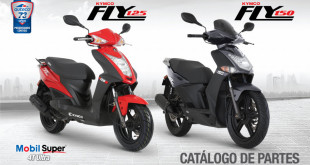 manual de partes moto Kymco Fly 125