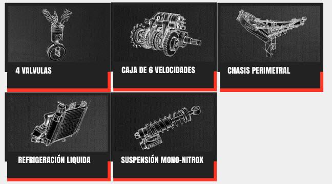 Características de la moto Bajaj Pulsar 200 NS de Auteco