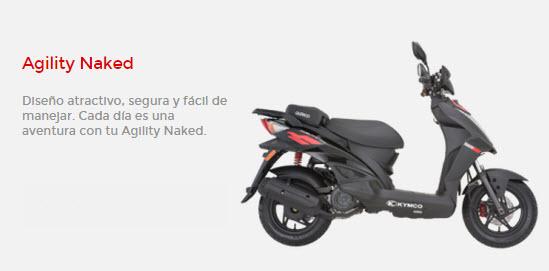 Motocicleta kymco agility naked