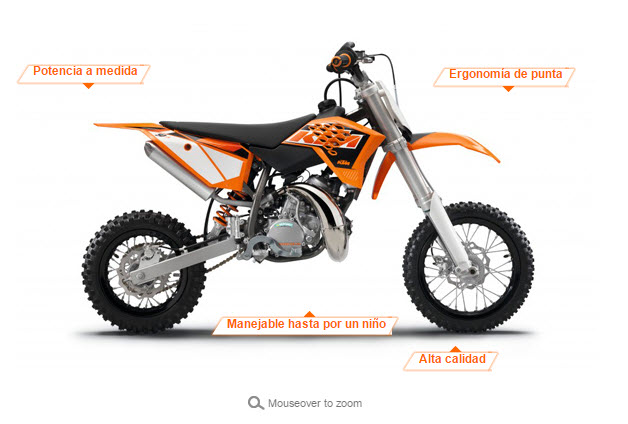 moto KTM 50 SX