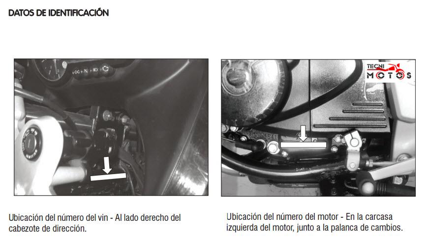 Dónde se ubica el número del motor y chasis de la moto Bajaj Pulsar 220 SS de Auteco