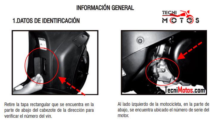 Dónde se ubica el número del motor y chasis de la moto Kymco Agility RS Naked