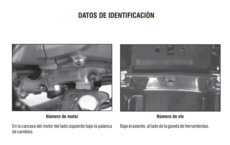 donde se ubica el número del motor y chasis de la moto kymco uni- k 110