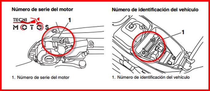 Donde ubico las improntas motor y chasis de la moto yamaha new cryptonDisco