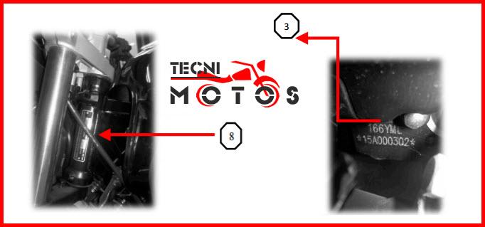 Improntas motor y chasis de la moto Jjialing XFIRE 230