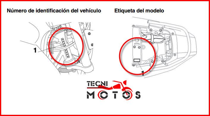 Donde ubico las improntas motor y chasis de la moto Yamaha YBR 250 Modelo 2011