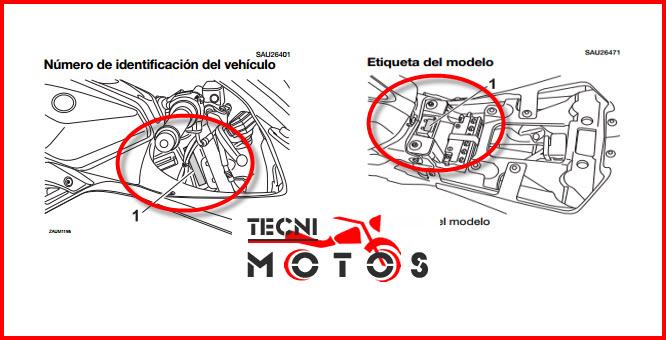 Donde ubico las improntas motor y chasis de la moto Yamaha YZF R125 Modelo 2016