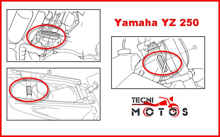 Donde ubico las improntas motor y chasis de la moto Yamaha YZ 250F Modelo 2007