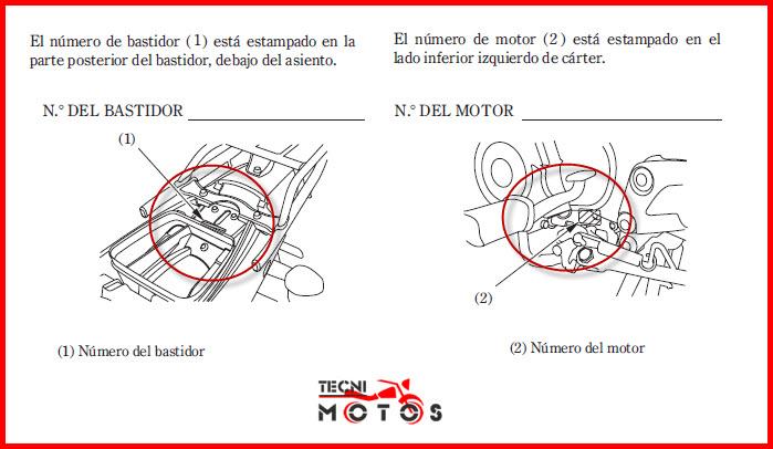 Donde ubico el motor y el chasis de la moto honda C100 Wave 2010