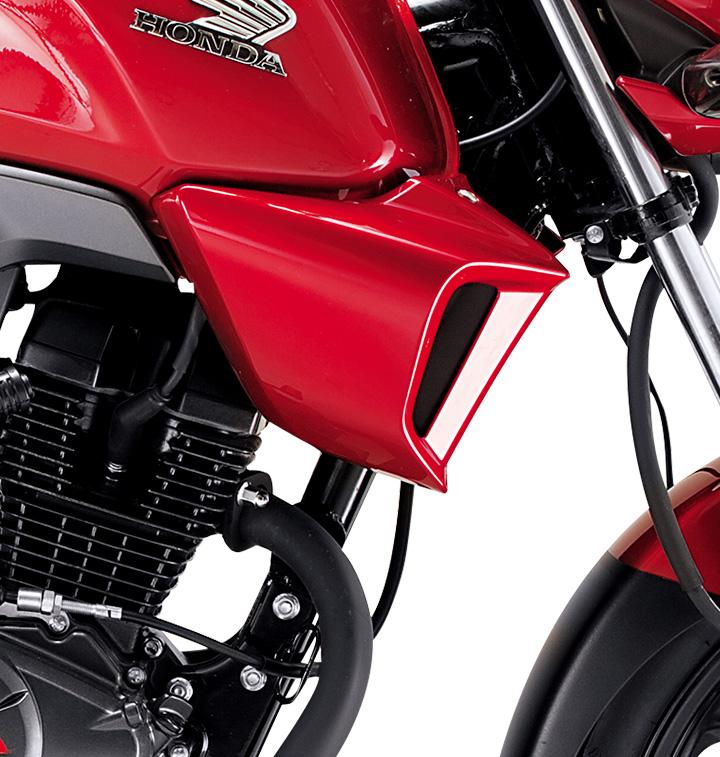 especificaciones nueva honda invicta 150 cc vista de alerones