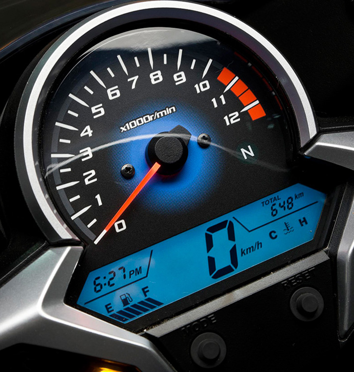 ficha tecnica e imagenes de la honda cbr 250 cc std tablero