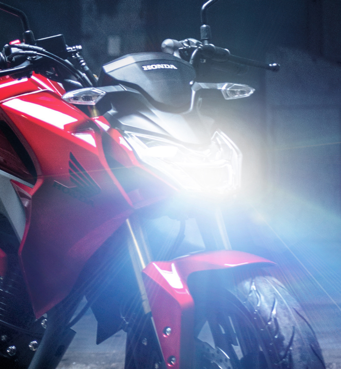 moto honda cb190r especificaciones luces led