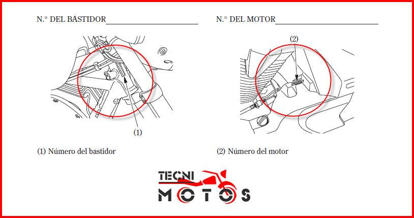 Número de motor y chasis moto Honda VT1300 CX/CXA modelo 2009- 2010