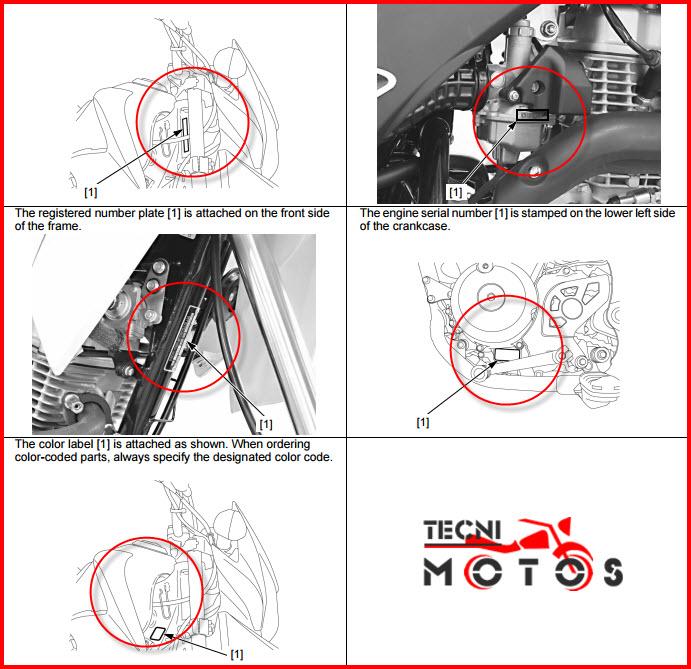 número de motor y chasis para improntas de la moto honda XR 150L