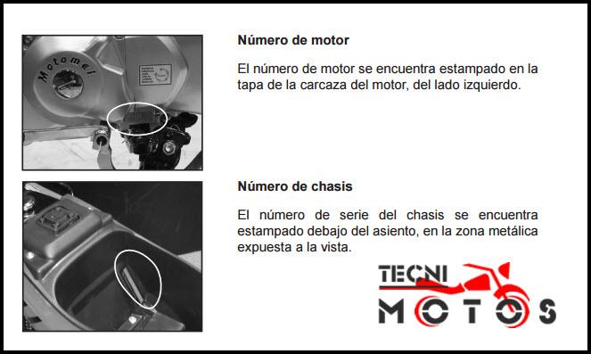 Improntas motor y chasis de la moto Kenton Blitz 110 y 125 SE