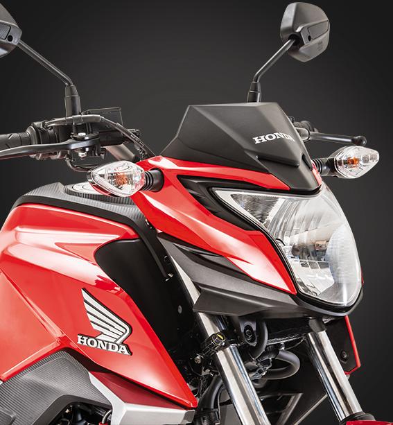 Diseño robusto de la moto honda C160F DLX