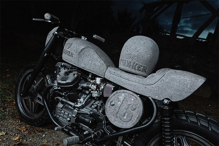 Como es la Moto Honda CX500 de piedra volcánica