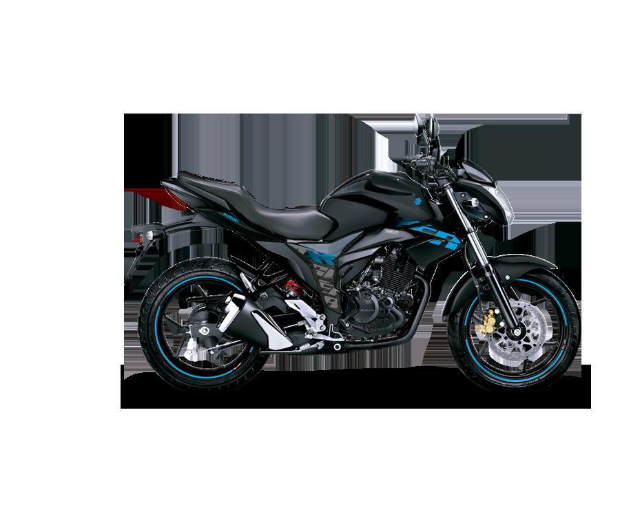 Moto suzuki Gixxer azul