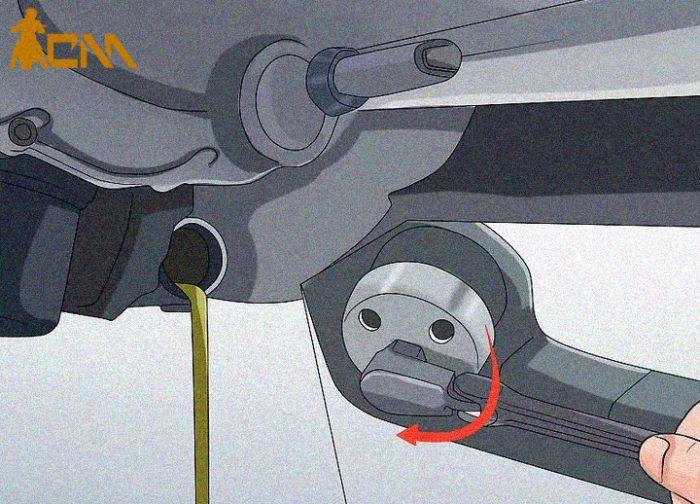 cambiar aceite a moto paso 3