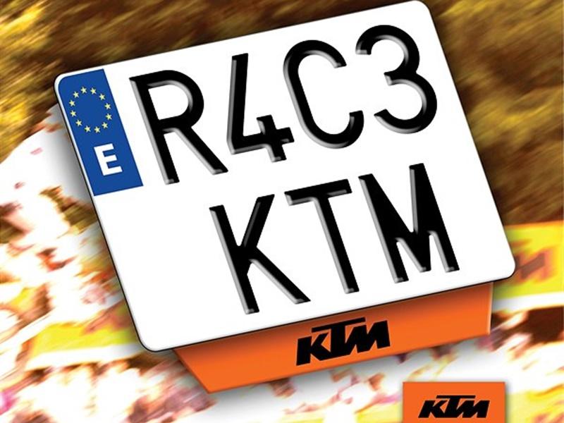 Busca tu KTM con matrícula KTM