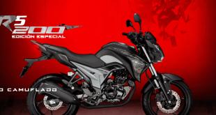 Moto AKT CR5 200 camuflada- edición especial