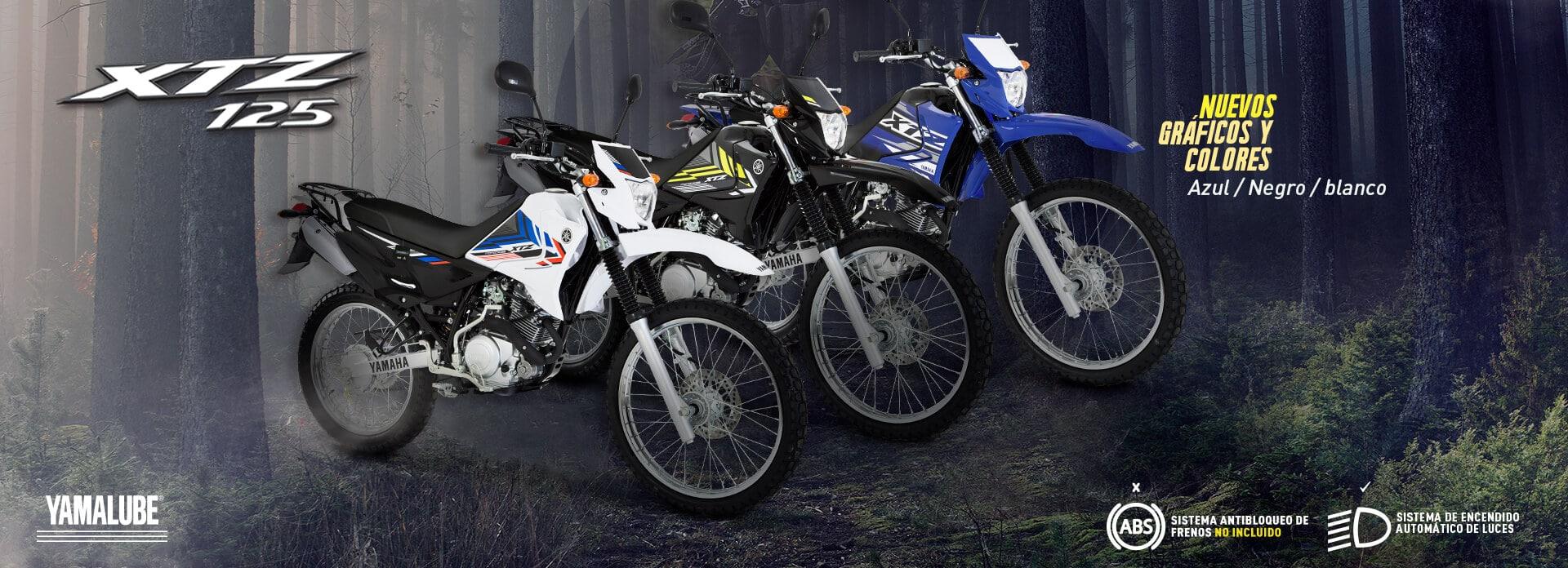 Colores y especificaciones Yamaha XTZ 125