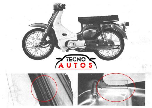 Identifica numero de motor y chasis suzuki fr 80