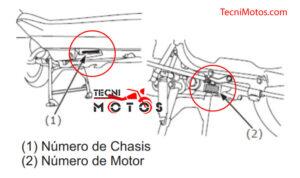 Serial motor y chasis honda Dio 110