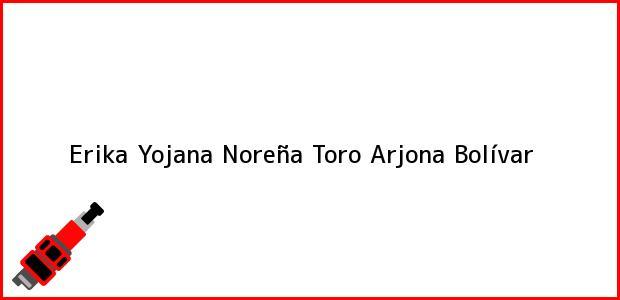 Teléfono, Dirección y otros datos de contacto para Erika Yojana Noreña Toro, Arjona, Bolívar, Colombia