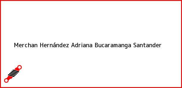 Teléfono, Dirección y otros datos de contacto para Merchan Hernández Adriana, Bucaramanga, Santander, Colombia