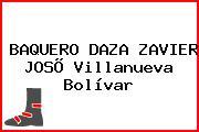 BAQUERO DAZA ZAVIER JOSÕ Villanueva Bolívar