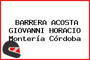 BARRERA ACOSTA GIOVANNI HORACIO Montería Córdoba