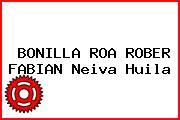 BONILLA ROA ROBER FABIAN Neiva Huila