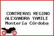 CONTRERAS REGINO ALEXANDRA YAMILE Montería Córdoba