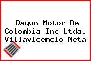 Dayun Motor De Colombia Inc Ltda. Villavicencio Meta