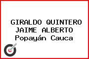 GIRALDO QUINTERO JAIME ALBERTO Popayán Cauca