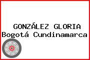GONZÁLEZ GLORIA Bogotá Cundinamarca