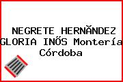 NEGRETE HERNÃNDEZ GLORIA INÕS Montería Córdoba