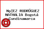 NºÞEZ RODRÚGUEZ NATHALIA Bogotá Cundinamarca