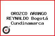 OROZCO ARANGO REYNALDO Bogotá Cundinamarca