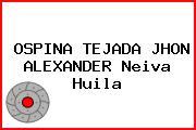 OSPINA TEJADA JHON ALEXANDER Neiva Huila