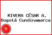 RIVERA CÉSAR A. Bogotá Cundinamarca