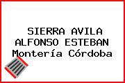 SIERRA AVILA ALFONSO ESTEBAN Montería Córdoba