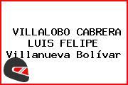 VILLALOBO CABRERA LUIS FELIPE Villanueva Bolívar