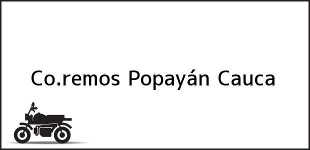 Teléfono, Dirección y otros datos de contacto para Co.remos, Popayán, Cauca, Colombia