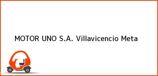 Teléfono, Dirección y otros datos de contacto para MOTOR UNO S.A., Villavicencio, Meta, Colombia