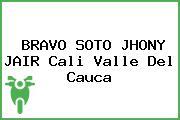 BRAVO SOTO JHONY JAIR Cali Valle Del Cauca