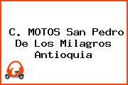 C. MOTOS San Pedro De Los Milagros Antioquia