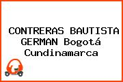 CONTRERAS BAUTISTA GERMAN Bogotá Cundinamarca