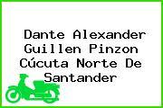 Dante Alexander Guillen Pinzon Cúcuta Norte De Santander